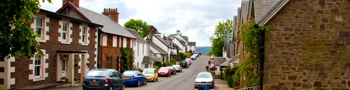 The Main Street in Gartmore Village